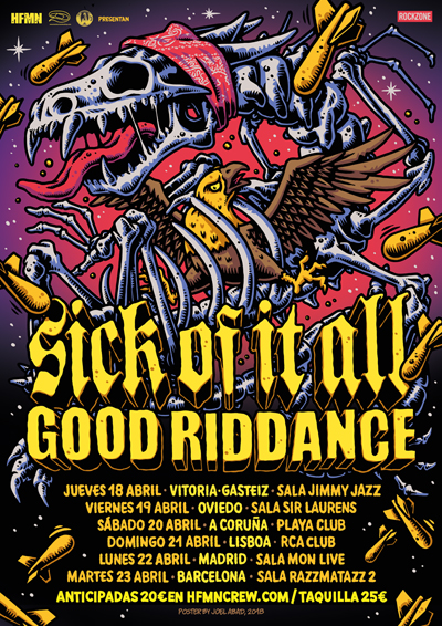 Sick of it all + Good Riddance, Spain Tour 2019
